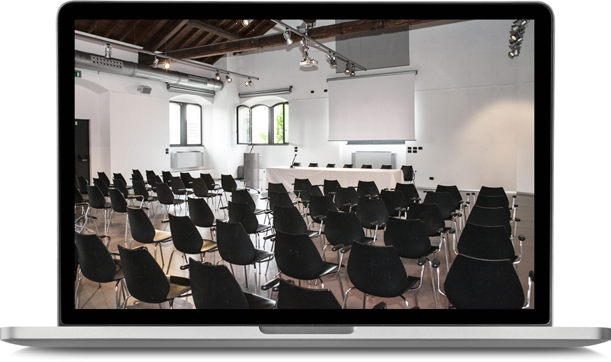 conference room set up in a classroom configuration